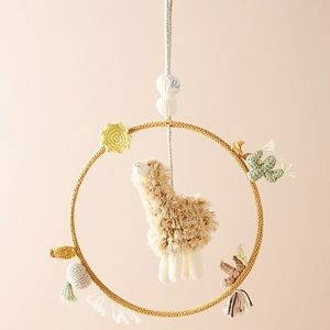 Anthropologie Llama Mobile Alpaca Dream by Blabla